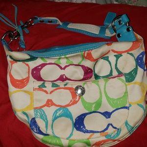 Small poppy Coach bag